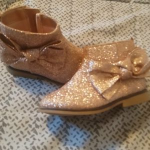 Toddler Girls children's place glitter  boots